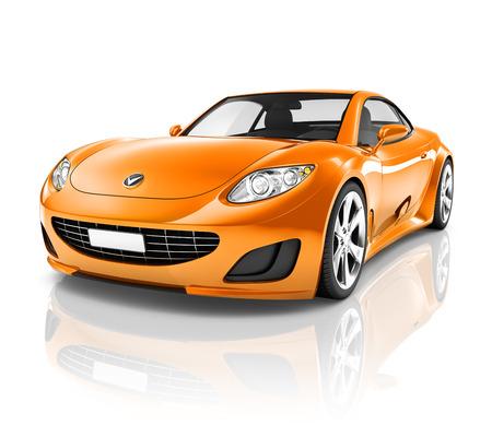 naranja color: Sport Luxury Car Foto de archivo