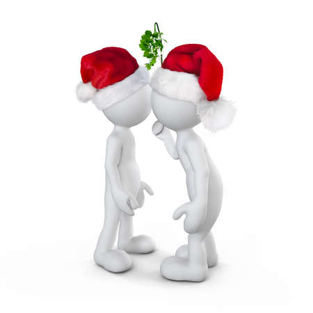 Two person celebrating on christmas photo