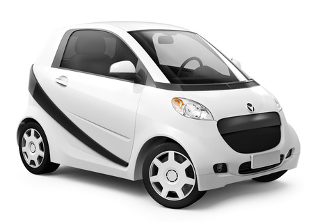 White smart car. photo