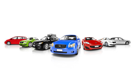 3d mode: Vehicles Collection Stock Photo