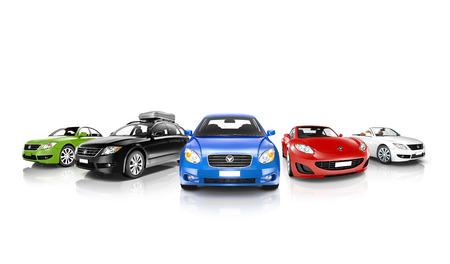 運輸: 車輛集合 版權商用圖片