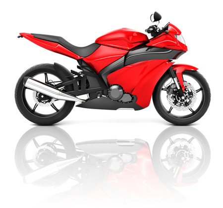 Sport Motorcycle Stock Photo