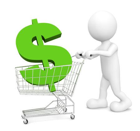 Green shopping. photo