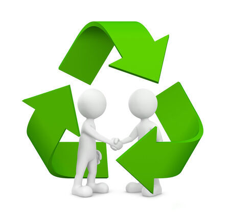conservationist: Green business agreement. Stock Photo
