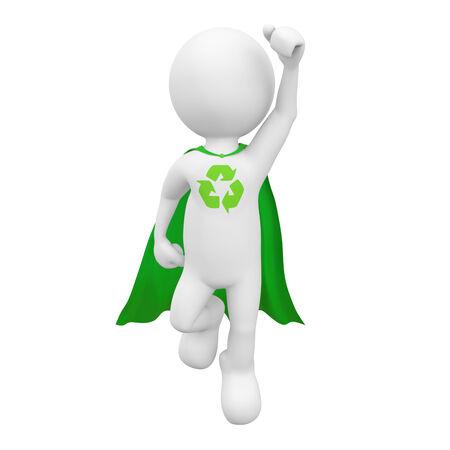 Green superhero. photo