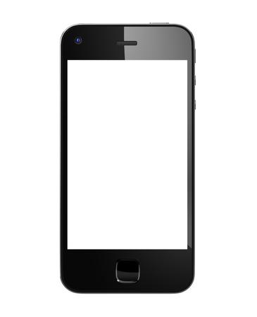 黒の携帯電話。 写真素材