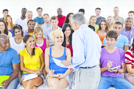 The Large Group of Student in The Lecture Hall photo