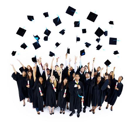 卒業帽子 写真素材