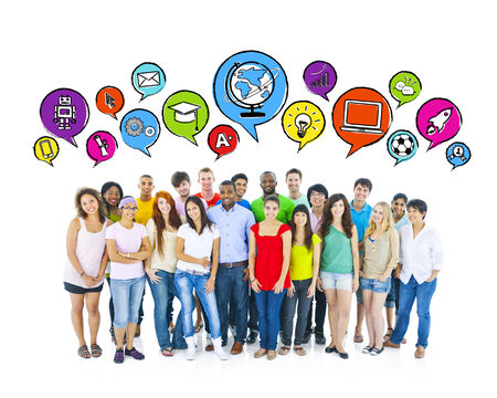 immagination: Social Networking Communications Stock Photo