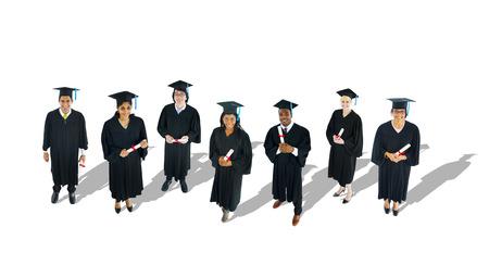fresh graduate: Multi-Ethnic Group of Graduated Student