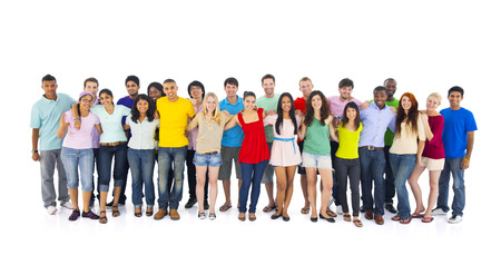 Group portrait of international youths