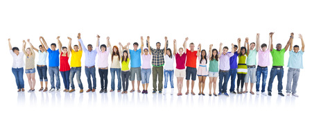 Large Group of People Holding Hand photo