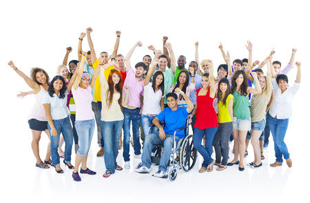 happy patient: Large Group of People Celebrating Stock Photo