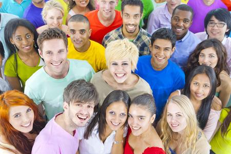 diversidad: Grupo grande de Estudiante