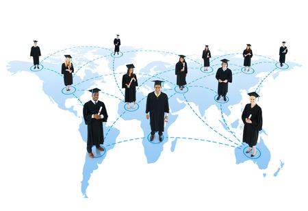 fondo de graduacion: Red social Estudiante Foto de archivo