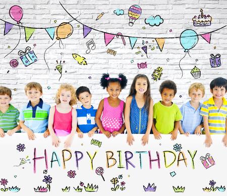 auguri di compleanno: Bambini festa di compleanno