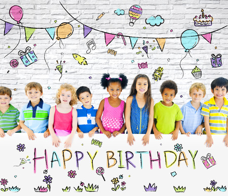 children party: Kids Birthday Party Stock Photo
