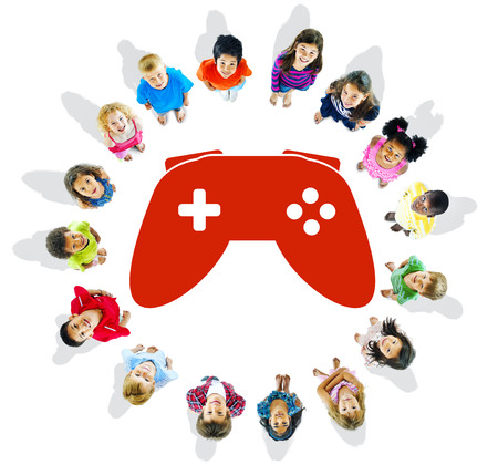 Group of Children and Play Concept photo