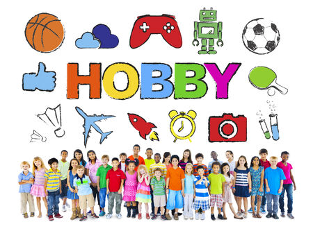 Multiethnic Group of Children with Hobby Concept photo