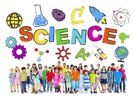 science equipment: Group of Children with Science Concept