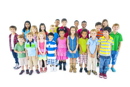 multi ethnic children: Multi-ethnic Chidrend in casual wear