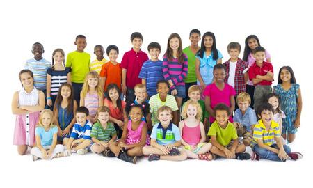 Grande gruppo di bambini Archivio Fotografico - 31335208