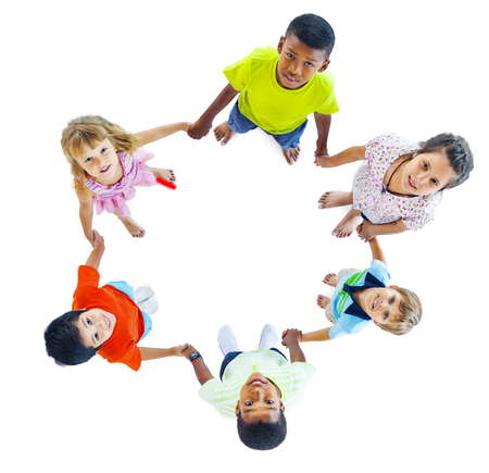 holding  hand: Group of Children Holding Hand Stock Photo