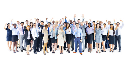 Large Group of Business People Celebrating Imagens - 31335243