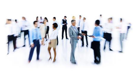 empleado de oficina: Grupo de hombres de negocios de Trabajo Movimiento borroso Interior