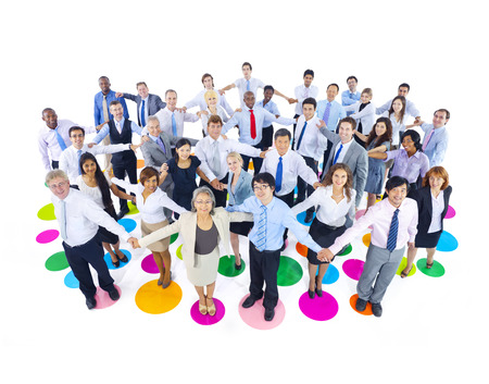Large Group of Business People Holding Hand Stock Photo - 31335268