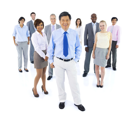 Large Group of Business People Stock Photo