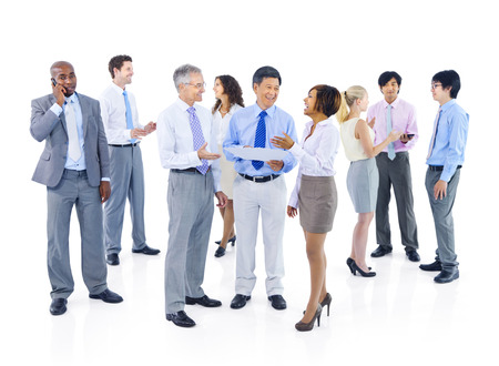 Group of Business People Discussion Stock Photo