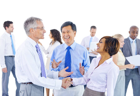organised group: Group of Business People Meeting Stock Photo