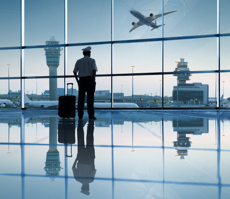 Pilot Waiting in the Airport