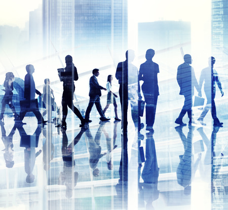Abstract Image of Business Peoples Busy Life Stock Photo