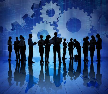 急成長する世界経済のビジネス人々 のグループ 写真素材