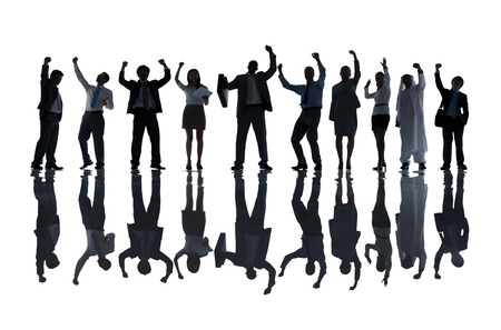 Group of Business People Celebrating photo