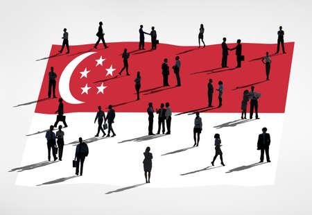 singaporean flag: Global Business : Singapore