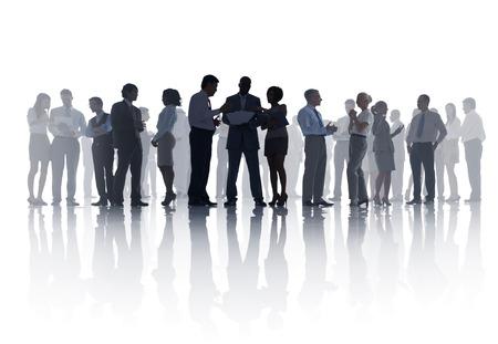ビジネス会議の大規模なグループ 写真素材