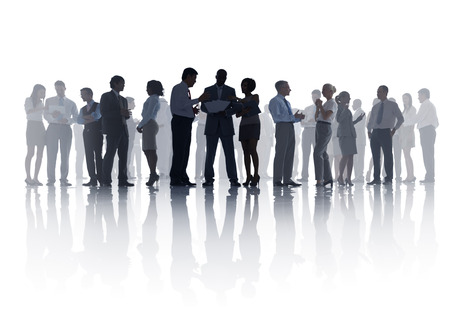 Large Group of Business Meeting Stock Photo