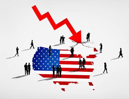 アメリカの危機 写真素材
