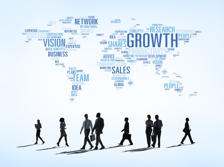 Vector of business concepts all around the world. photo