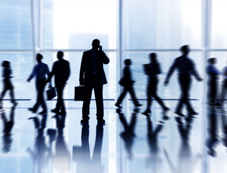 business people walking: Business People in the City Stock Photo