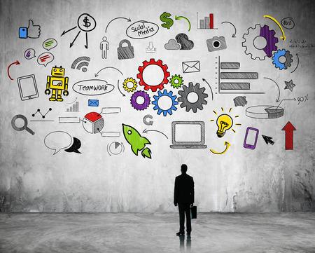 toma de decision: La planificaci�n estrat�gica de negocios Foto de archivo