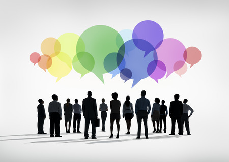 speech bubble: Business Social Networking Stock Photo
