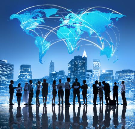 reunion de personas: Equipo Global de Negocios