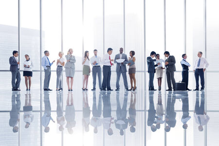 analysed: Group of Business People in the City Stock Photo