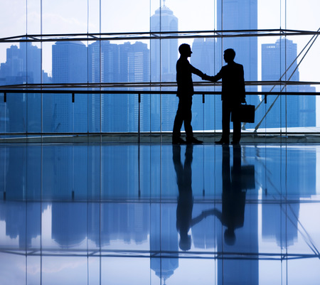 hand shake: Business people making agreement.