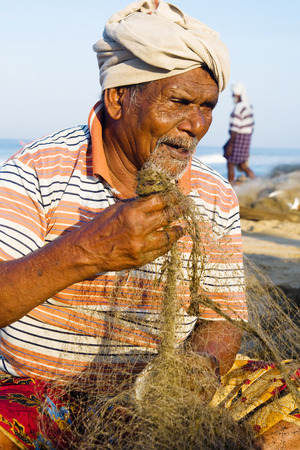 india fisherman: Indian Fisherman, Kerela, India. Stock Photo