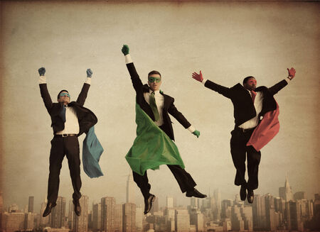 Retro Superhero Businessmen photo